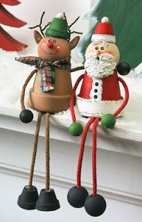 20 DIY clay pot Christmas decorations that add charm to your holiday decor - Diy & Craft Days Christmas Clay, Christmas Ornament Crafts, Diy Christmas Gifts, Christmas Projects, Holiday Crafts, Holiday Decor, Holiday Ornaments, Flower Pot Crafts, Clay Pot Crafts