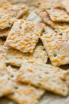 Jalapeno Cheddar Crackers Recipe ~ These crispy, cheesy jalapeño crackers are a definite crowd-pleaser. And they're so easy to make too!