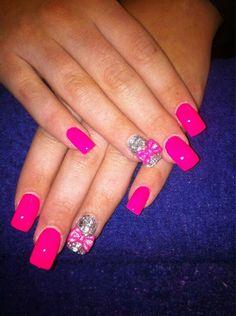 Pink bling bows