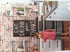 Fun kitchen chalk board idea- better homes and gardens magazine July 2013