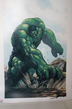 Hulk print signed Alvin Lee Comic Art