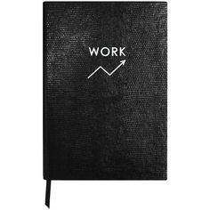 Sloane Stationery - Monochrome Work Notebook ($55) ❤ liked on Polyvore featuring home, home decor, stationery, fillers, extras, accessories and notebooks