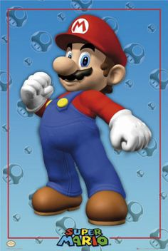 Posters: Nintendo Mini Poster - Super Mario Solo x 16 inches) Mario Party, Mario Birthday Party, Game Party, 8th Birthday, Birthday Parties, Super Mario Bros Nintendo, Super Mario Brothers, Video Game Posters, Video Game Characters