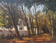 S3090 Tinus De Jongh Art Paintings, Landscape Paintings, Landscapes, Love Art, All Art, South Africa Art, Cape Dutch, City Scapes, South African Artists