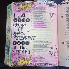 Day 2 of the Yes & Amen devotional and a timely reminder that we need to choose to sing of the steadfast love of the Lord in the morning... What songs come to mind when you think about the steadfast love of God? Here are a few of mine: The steadfast love of the Lord never ceases, His mercies never come to an end... They are new every morning, new every morning, great is Your faithfulness oh Lord, great is Your faithfulness! Your love never fails, never gives up, never runs out on me... He…