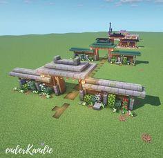 Minecraft Wall, Minecraft Mansion, Minecraft Cottage, Cute Minecraft Houses, Minecraft Castle, Minecraft Plans, Minecraft House Designs, Minecraft Survival, Amazing Minecraft