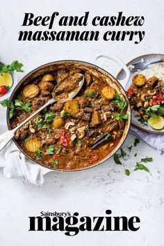 Rich and redolent with spices, this warming stew is ideal to make and freeze. Get the Sainsbury's magazine recipe Small Food Processor, Food Processor Recipes, Massaman Curry Paste, Magazine Recipe, Hearty Beef Stew, Best Curry, Tasty, Yummy Food, Beef Ribs