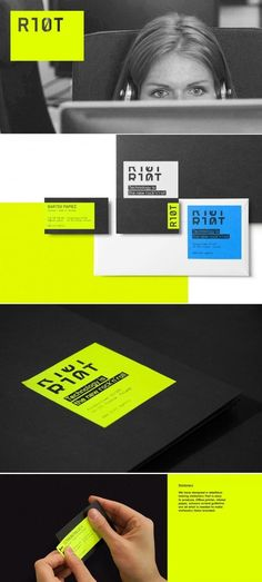 RIOT Digital Product Agency Branding by Ollestudio - #brand #collateral #businesscards #branding #design