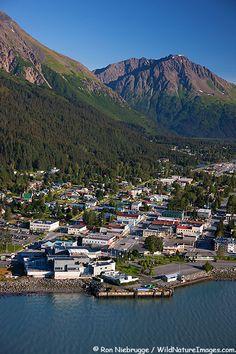 Aerial Photo of Town of Seward Alaska - According to 2014 Census Bureau estimates, the population of the city is North To Alaska, Visit Alaska, Alaska Usa, Alaska Travel, Alaska Cruise, Alaska Trip, Seward Alaska, Fairbanks Alaska, Anchorage Alaska