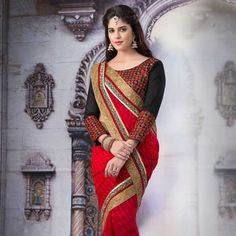 #Red #ChiffonSaree