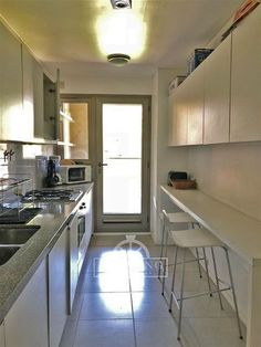 -  - #decorationcouloir Long Kitchen, Narrow Kitchen, Kitchen Interior, Kitchen Decor, Kitchen Cupboard Designs, Small Galley Kitchens, Small Apartment Kitchen, U Shaped Kitchen, Upcycled Home Decor