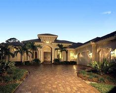 Mediterranean Dream - 66271WE   Florida, Mediterranean, Luxury, Photo Gallery, Premium Collection, 1st Floor Master Suite, CAD Available, Den-Office-Library-Study, MBR Sitting Area, PDF, Split Bedrooms   Architectural Designs