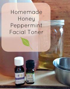 Homemade Honey Peppermint Facial Toner