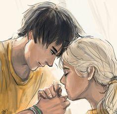 Percy Jackson / Annabeth Chase / Percabeth / art by toodledeedoo