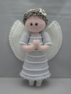 Beautiful #Angels that I've found for you. Includes #Free #Crochet Patterns ~ Crochet Addict UK.  Guardian Angel (Instant download Amigurumi doll crochet pattern pdf)
