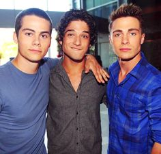 Dylan O'Brien, Tyler Posey, Colton Haynes. So handsome <3