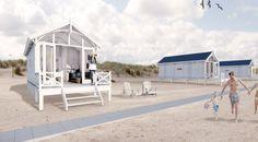 Luxe Haagse Strandhuisjes op het strand van Kijkduin