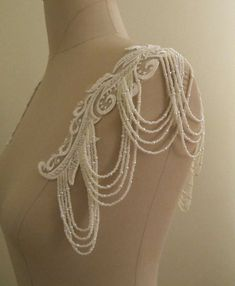 Wedding Dress Straps Detachable Beaded Sleeves Crystal Pearl Hand Beaded Straps Bridal Strap Shoulder Necklace Back Jewelry Cap Sleeve Diy Wedding Dress, Western Wedding Dresses, Wedding Dresses With Straps, Wedding Dress Sleeves, Dresses With Sleeves, Shoulder Jewelry, Shoulder Necklace, Vintage Wedding Jewelry, Bridal Jewelry