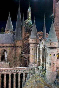 Scale model of the complete Hogwarts grounds. It measures 15 meters around.