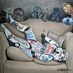 What happens at a #starwars party ...