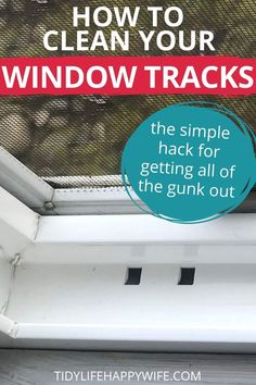 Don't be embarrassed by nasty window tracks any longer. Here's a quick and easy cleaning hack that blasts window track dirt and makes you look like a cleaning pro in minutes. Super simple tips to get all the gunk out and make your window tracks look brand new. Include it in your spring cleaning routine so you're always ready to throw the windows open and get some fresh air. #clean #cleaning #cleaningtips #cleanlikeapro #springcleaning #cleaningroutine #checklist #freeprintable