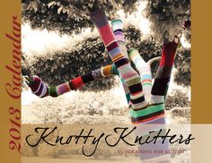Knotty Knitters Calendar.  Fundraiser for Autism