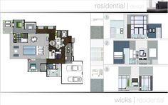 interior design portfolio | residential design by Dallas Willman, via Behance