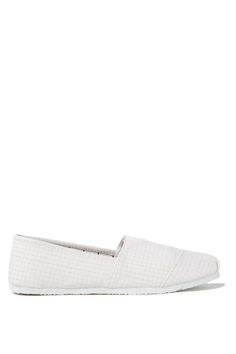 The Jenna Slip On is a new addition to the casual range. It is easy to put on, comfortable and gives you an extra chilled out look through the use of natural look materials including crochet, stripe and herringbone. Team them with chambray and a hint of metal to ensure that your lazy summer afternoons aren't lacking in style!