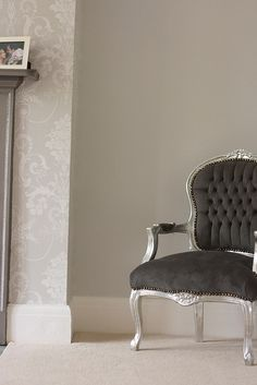 silver and upholstery of the chair