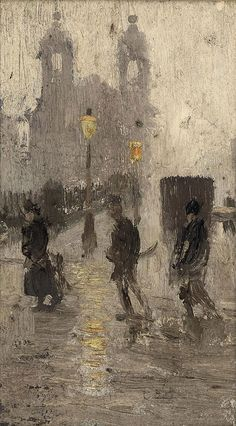 Pierre Adolphe Valette Presbyterian Church, All Saints, with figures Matisse, French Impressionist Painters, Manchester Art, Manchester United, Urbane Kunst, Art Through The Ages, Virtual Art, Traditional Landscape, Cecile