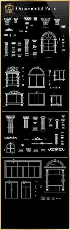 Ornamental Parts of Buildings 8   Free Cad Blocks & Drawings Download Center