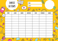 Back To School List, School Timetable, School Clipart, College Organization, Home Schooling, Altered Books, School Supplies, Homeschool, Printables
