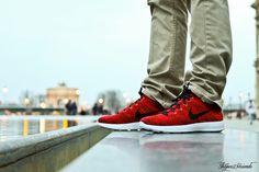 Nike Lunar FlyKnit Chukka Red