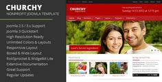 Churchy - Nonprofit Joomla Template . Churchy is a Responsive Joomla Church Template. The Template is powered by Warp Framework and is fully internationalized and has been tested in all major browsers so you can be sure your users will see your website correctly. The theme has full support for RTL language and will work on any