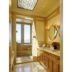 Accessorize a skylight with an ornate wrought iron or faux wrought iron overlay.