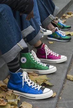 "Anderson x Converse ""Glitter Gutter"" Chuck Taylor All Star 70 High Moda Sneakers, Sneakers Mode, Converse Sneakers, Sneakers Fashion, High Top Sneakers, Casual Sneakers, Sock Shoes, Cute Shoes, Me Too Shoes"