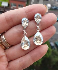 Wedding earrings with Swarovski Crystals Moonlight❤