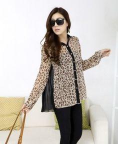 leopard blouse Leopard Blouse, Blouse Designs, Blouses, Fancy, Blazer, Elegant, Long Sleeve, Sleeves, Jackets