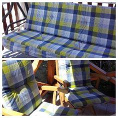 Hollywoodschaukel Auflage   Farbe   Checkered Blue   Auflagen Garten Möbel