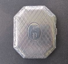Antique Sterling Silver Compact.
