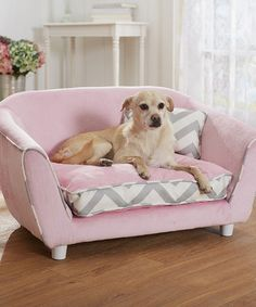 Another great find on #zulily! Pink Sofa Pet Bed by Enchanted Home Pet #zulilyfinds