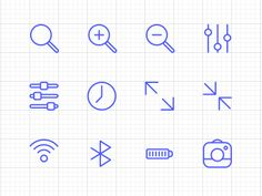 Thin Icon Set designed by Wat. Connect with them on Dribbble; Web Design, Icon Design, Graphic Design, Ios 7 Icons, Ipad, Ui Inspiration, Iphone, Icon Set, Pictogram