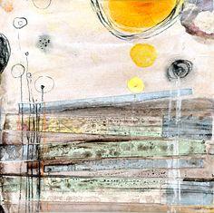 orange sun 1 by Andrea D'Aquino - mixed media collage