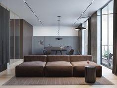 Un appartement moderne et minimaliste pour une jeune famille