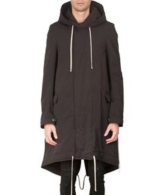 RICK OWENS DRKSHDW Cotton Fishtail Parka. #rickowensdrkshdw #cloth #parka