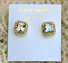 Kate Spade Big Crystal Earrings | eBay