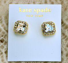 Kate Spade Big Crystal Earrings | eBay