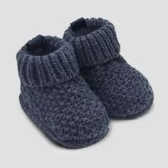 Just One You® made by carter's Blue Newborn Baby Boys' Knitted Seed Slipper ~ Target (afflink) Baby Booties Knitting Pattern, Baby Boy Knitting, Knitted Booties, Crochet Baby Booties, Baby Knitting Patterns, Hand Knitting, Knitted Baby, Knitted Slippers, Baby Boy Booties