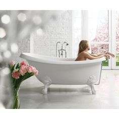 Shop for Aquatica Nostalgia-Wht-Stn-Legs Freestanding Cast Stone Bathtub. Get free shipping at Overstock.com - Your Online Home Improvement Outlet Store! Get 5% in rewards with Club O!