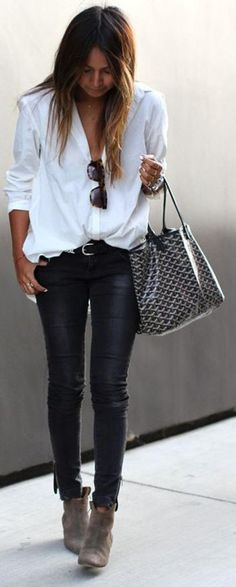 Black And White Cool Outfit